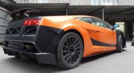 Lamborghini Gallardo VF SLG Style Rear Bumper With Diffuser