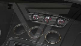 Lamborghini Gallardo LP550 LP560 LP570 Dry Carbon Fiber Top Center Dash 3 Gauge Cluster Trim Cover